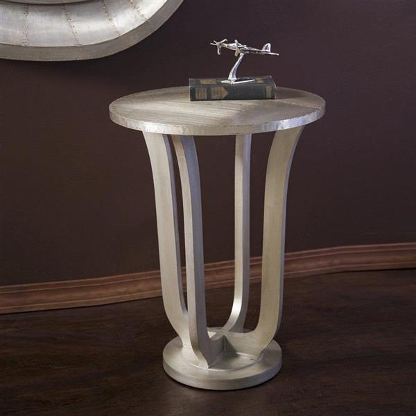 IMAX Worldwide Jensen 30-in Aluminum Metal Modern End Table
