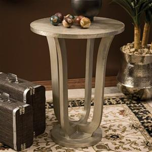 IMAX Worldwide Jensen 30-in Aluminum Metal Modern End Table