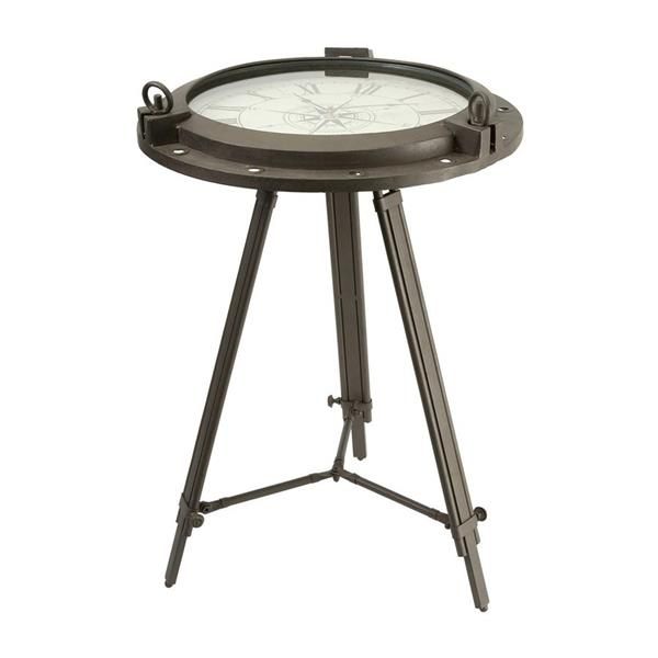 IMAX Worldwide 26.75-in Rustic Iron Metal Coastal End Table