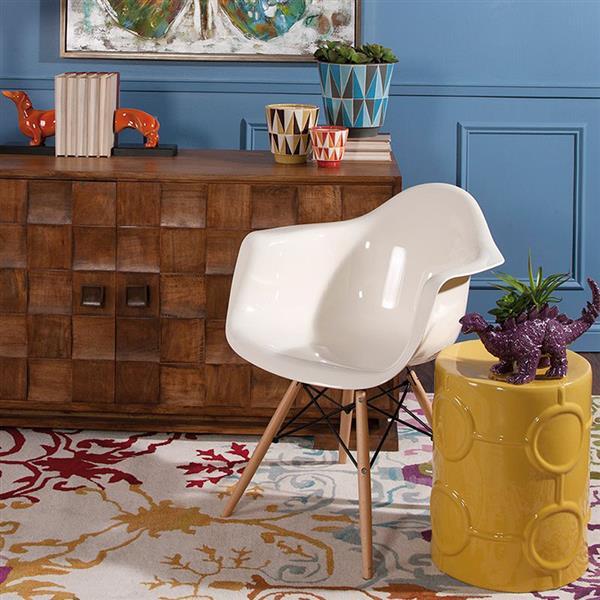 IMAX Worldwide Arturo Scandinavian White Accent Chair