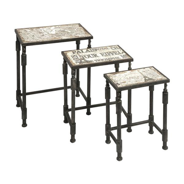 IMAX Worldwide Knoxlin 3-Piece French Design Fir Accent Tables (Set of 3)