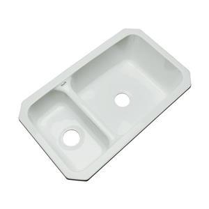 Dekor Windsor 22-in x 33-in Sterling Silver Double-Basin Undermount Residential Kitchen Sink