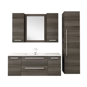 Cutler Kitchen & Bath Silhouette Collection 48-in  x18-in White Acrylic Top  Wall Hung Vanity