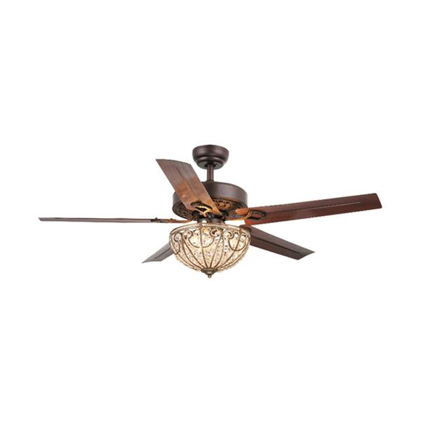 Warehouse of Tiffany Catalina 48-in Bronze Indoor Ceiling Fan with Light Kit (5 Blades)