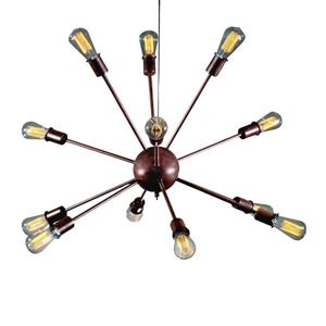 Warehouse of Tiffany 38-in Bronze 12-Light JackStone Industrial Abstract Chandelier