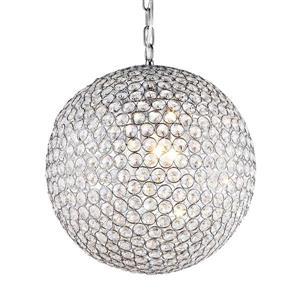 Warehouse of Tiffany 16-in Chrome 2-Light Jasmine Crystal Globe Chandelier