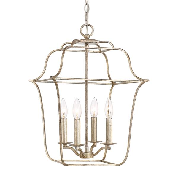 Quoizel Gallery 14-in Polished Chrome Traditional Cage Pendant Lighting