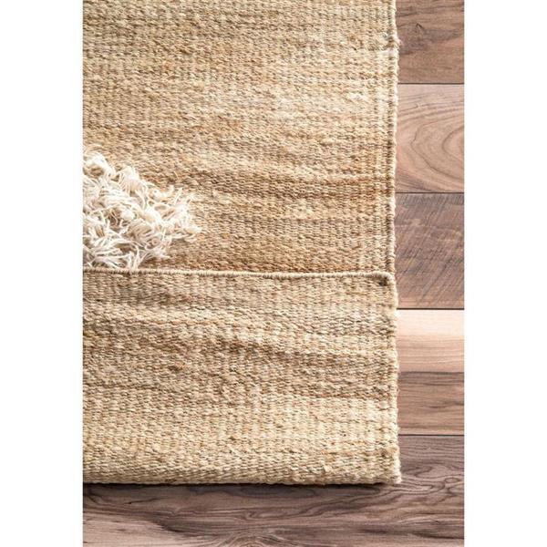 nuLOOM Melida 7-ft x 10-ft Rectangular Natural/Bleached Indoor Area Rug