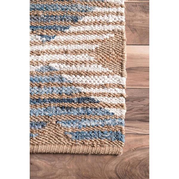 nuLOOM Marla 4-ft x 6-ft Rectangular Denim Indoor Area Rug