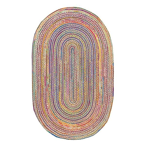 nuLOOM 7-ft x 10-ft Handcrafted Multi-colour Aleen Indoor Oval Area Rug