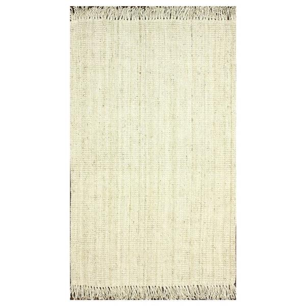 nuLOOM Natura 6-ft x 9-ft Rectangular Bleached Indoor Area Rug