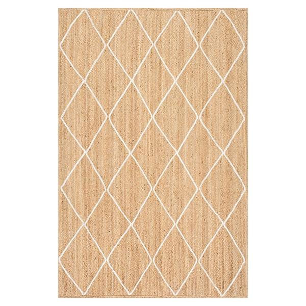 nuLOOM Caleb 5-ft x 8-ft Natural/Bleached Handcrafted Area Rug