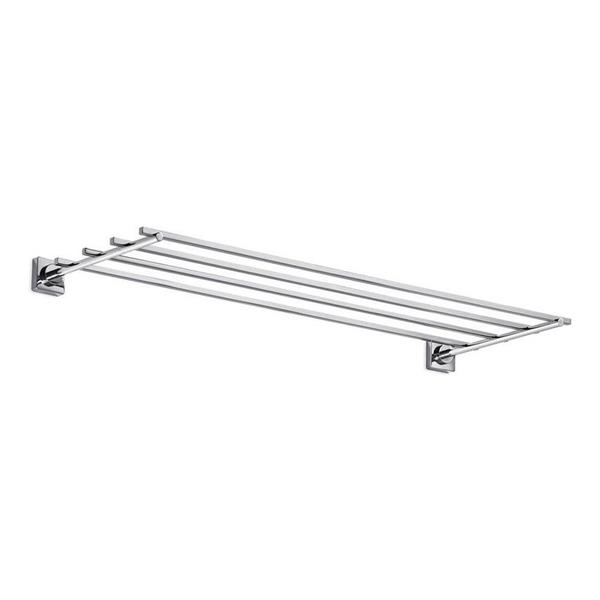 WS Bath Collections Quadro Chrome Wall Mounted Towel Rack