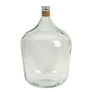 Imax Worldwide Clear 14.5-in x 14.5-in Boccioni Recycled Glass Jug