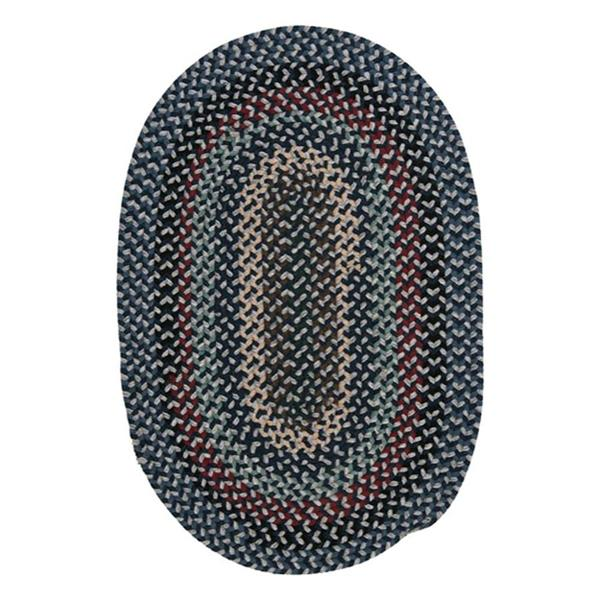 Colonial Mills Boston Common 8-ft x 11-ft Winter Blues Oval Area Rug