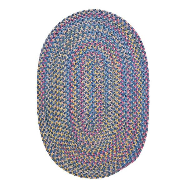 Colonial Mills Botanical Isle 7-ft x 9-ft Oasis Blue Oval Area Rug