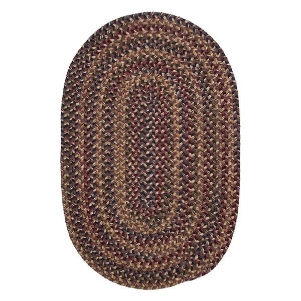 Colonial Mills Twilight 4-ft Lavander Handcrafted Round Area Rug