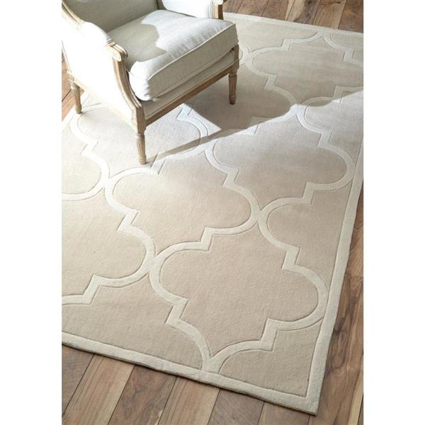 nuLOOM Cine 8-ft x 10-ft Cream Handcrafted Area Rug