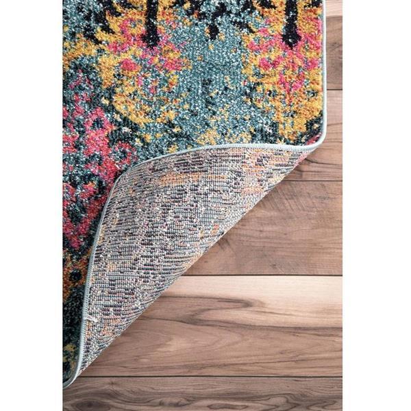 nuLOOM Evelina 5-ft x 8-ft Blue Rectangular Indoor Area Rug