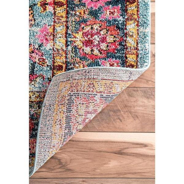 nuLOOM Lavenia 5-ft x 8-ft Pink/Multi-Color Persian Area Rug