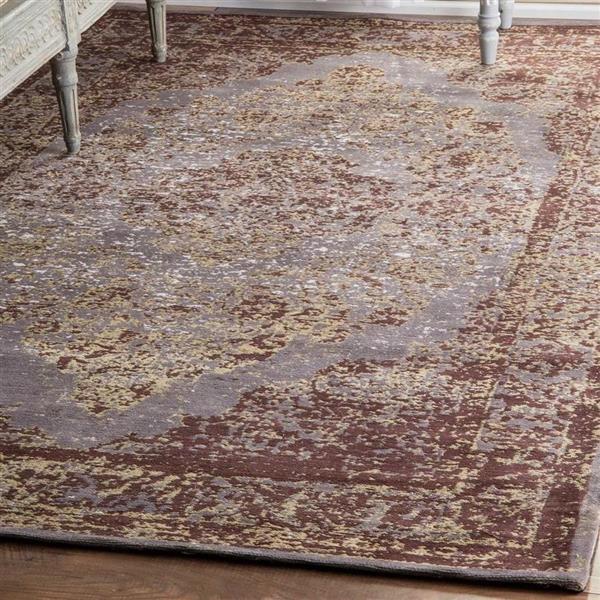 nuLOOM Fiona 5-ft x 8-ft Gray Rectangular Indoor Area Rug