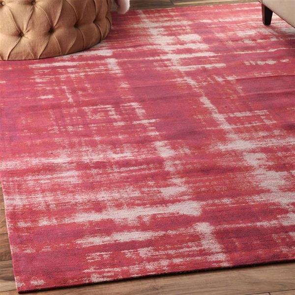 nuLOOM Olga 8-ft x 10-ft Rectangular Pink Indoor Area Rug