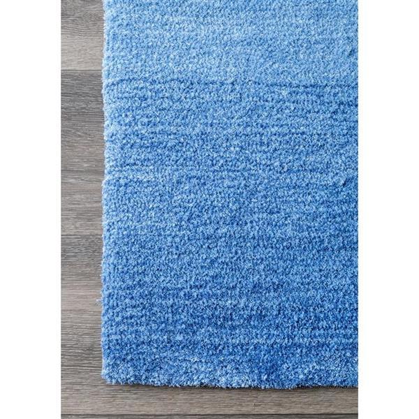 nuLOOM Bernetta 5-ft x 8-ft Rectangular Blue Indoor Area Rug