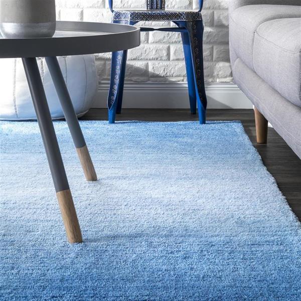 nuLOOM Bernetta 8-ft x 10-ft Rectangular Blue Indoor Area Rug