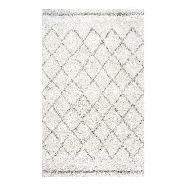 nuLOOM Vennie 8-ft x 10-ft Rectangular Cream Indoor Area Rug
