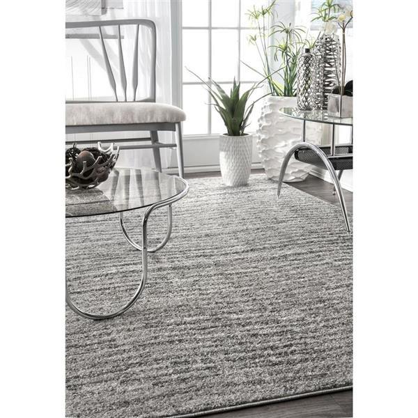 nuLOOM Sherill 7-ft x 9-ft Gray Rectangular Indoor Area Rug