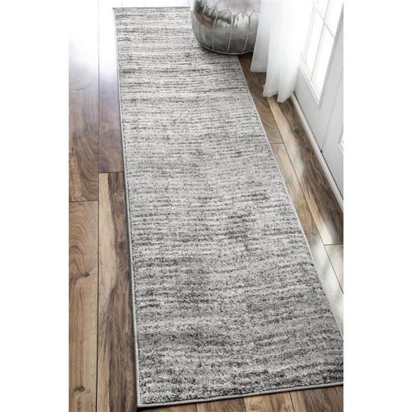 nuLOOM Sherill 8-ft x 8-ft Gray Round Indoor Area Rug