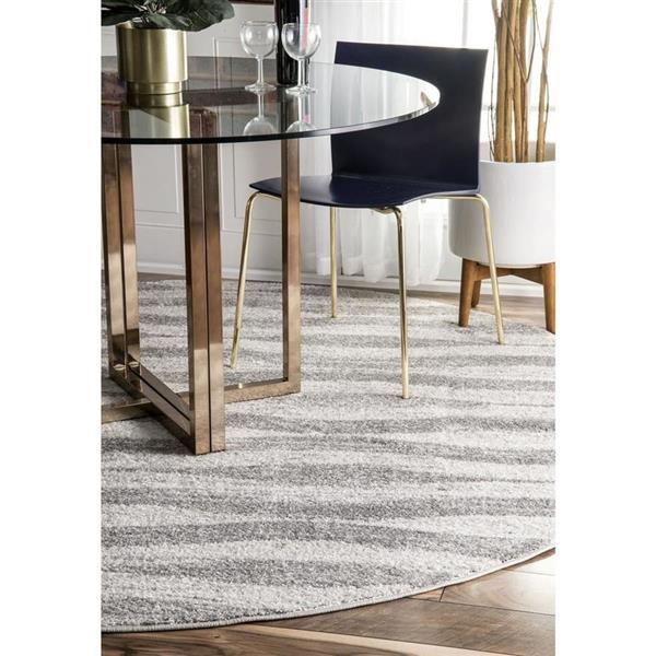 nuLOOM Tristan 7-ft x 9-ft Rectangular Gray Indoor Area Rug