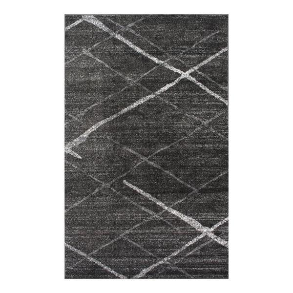 nuLOOM Thigpen  8-ft x 10-ft Gray Rectangular Indoor Area Rug