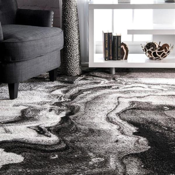 nuLOOM Remona 8-ft x 10-ft Rectangular Gray Indoor Area Rug
