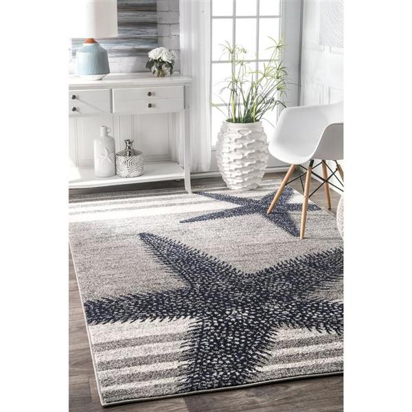 nuLOOM Thomas Paul 8-ft x 10-ft Gray Rectangular Indoor Area Rug