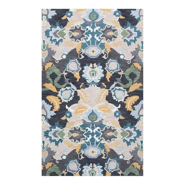 nuLOOM Felicity 5-ft x 8-ft Navy Rectangular Indoor Handcrafted Area Rug