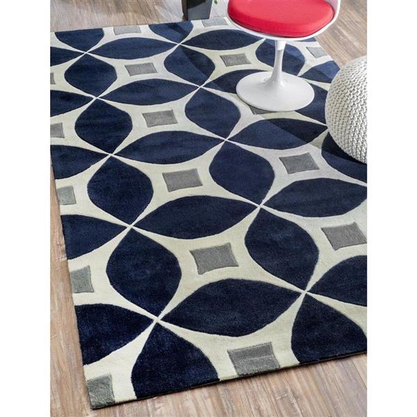 nuLOOM Barcelona 5-ft x 8-ft Rectangular Indoor Blue Gabriela Area Rug