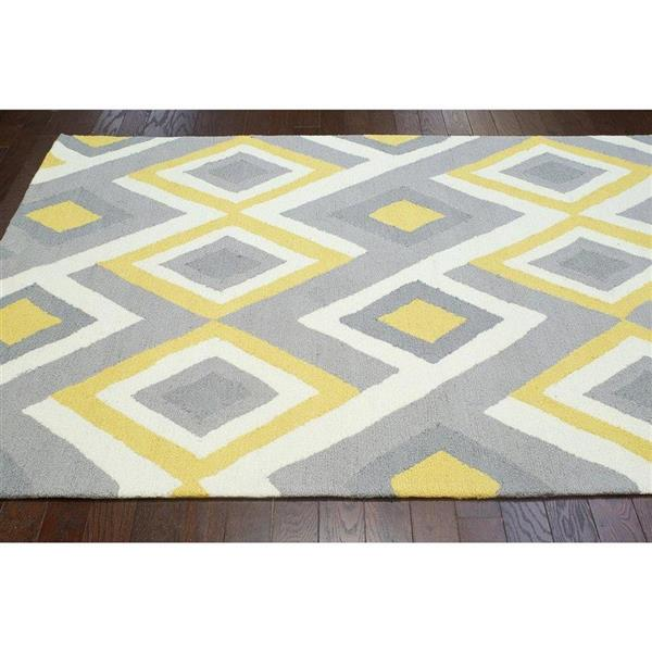 nuLOOM Barcelona 5-ft x 8-ft Rectangular Indoor Gray and Sunflower Anya Area Rug