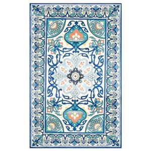 nuLOOM Leda 5-ft x 8-ft Blue Floral Area Rug