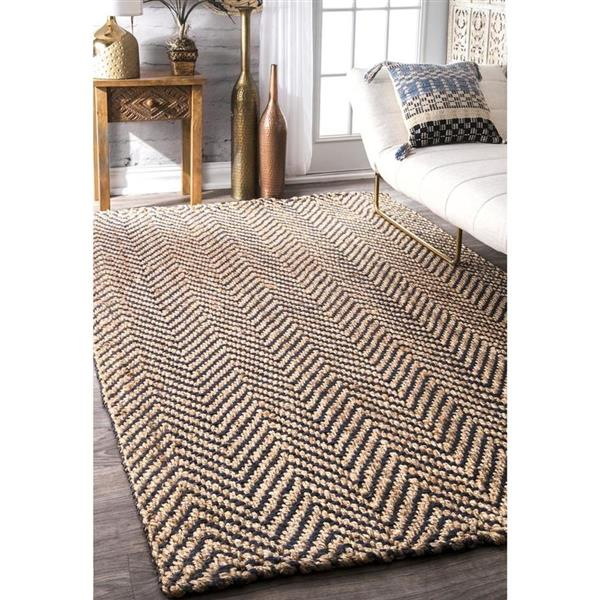 nuLOOM Vania 5-ft x 8-ft Rectangular Brown Indoor Area Rug