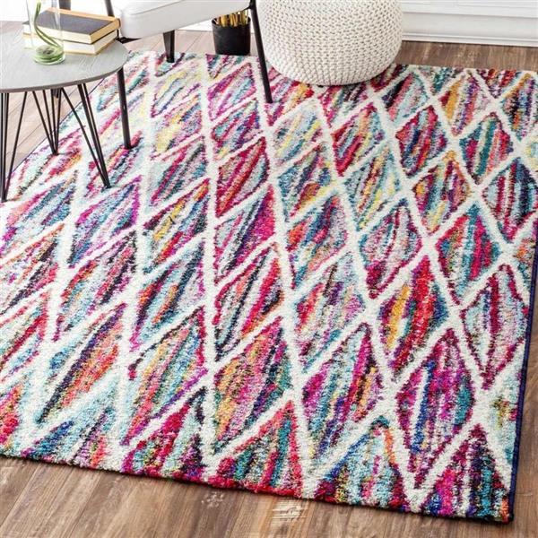 nuLOOM Ferrell 5-ft x 8-ft Multi-Colored Rectangular Indoor Area Rug