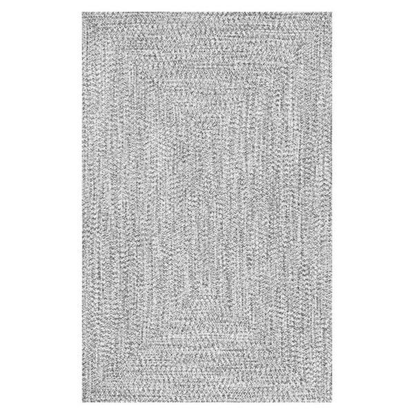 nuLOOM Lefebvre 5-ft x 8-ft Grey Braided Area Rug
