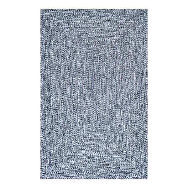 nuLOOM Lefebvre 5-ft x 8-ft Light Blue Braided Area Rug