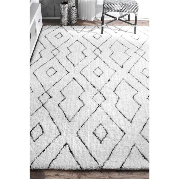 nuLOOM Beaulah 5-ft x 8-ft Rectangular Indoor White Area Rug