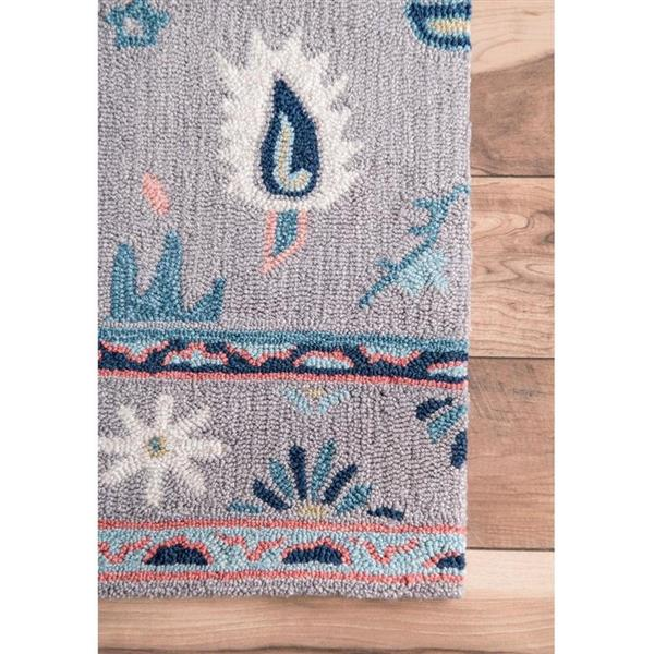 nuLOOM Dorla 5-ft x 7-ft Gray Handcrafted Area Rug