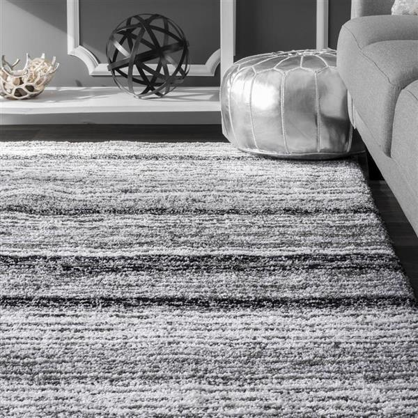 nuLOOM Cine 5-ft x 8-ft Gray Handcrafted Area Rug
