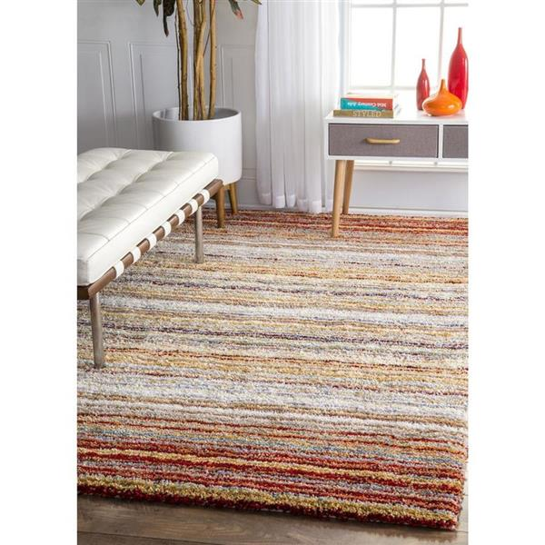 nuLOOM Classie 6-ft x 9-ft Red Handcrafted Area Rug