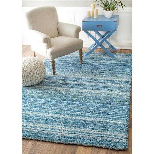 nuLOOM Classie 5-ft x 8-ft Blue Handcrafted Area Rug