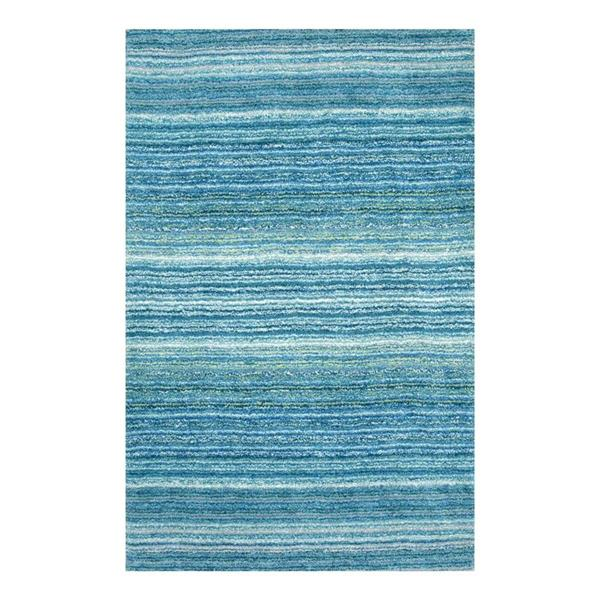 nuLOOM Classie 6-ft x 9-ft Blue Handcrafted Area Rug