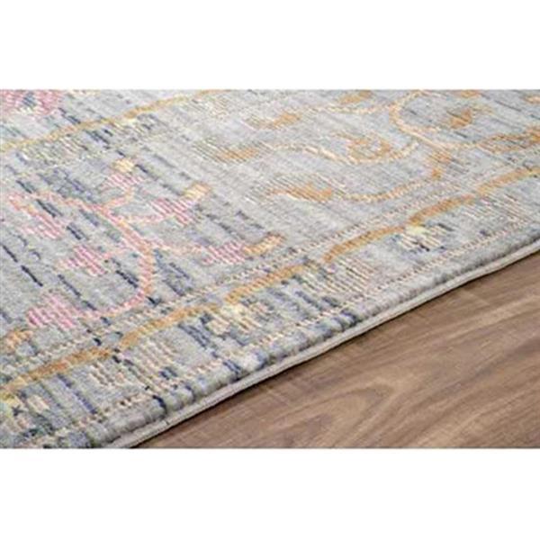 nuLOOM Killian 4-ft x 6-ft Grey/Multi-Color Vintage Area Rug